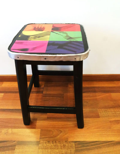 CUSTO TABOURET AVEC PHOTOS