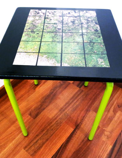 TABLE PHOTO VERTE